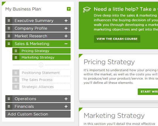 simple business model template