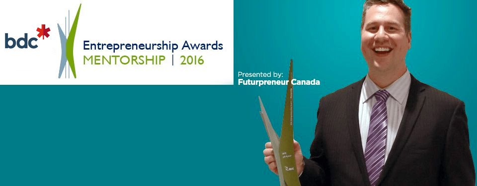 Jeff Ryzner of Winnipeg, Manitoba, the 2015 winner of the BDC Mentorship Award.