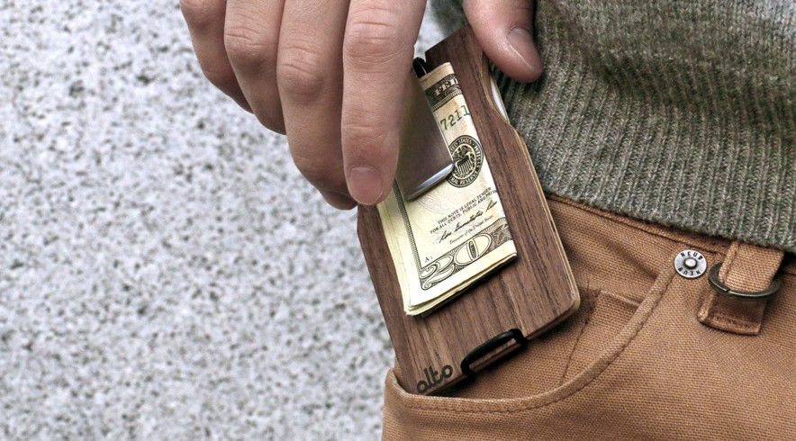 Alto Collective - walnut wood wallet