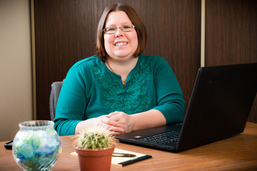 Photo of Lisamarie Johnston, owner of Diverse Office Solutions.