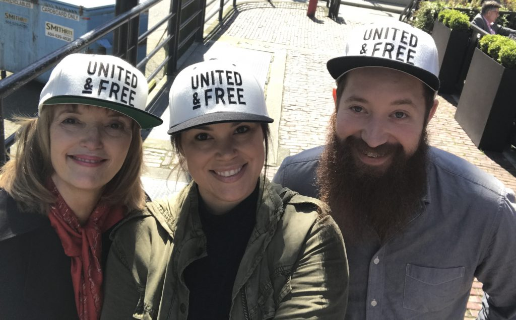 United & Free founders with their mentor, Barb