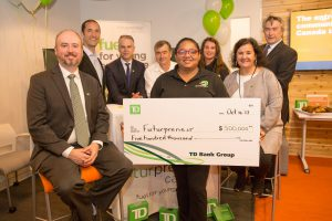 TD Bank Group presents cheque