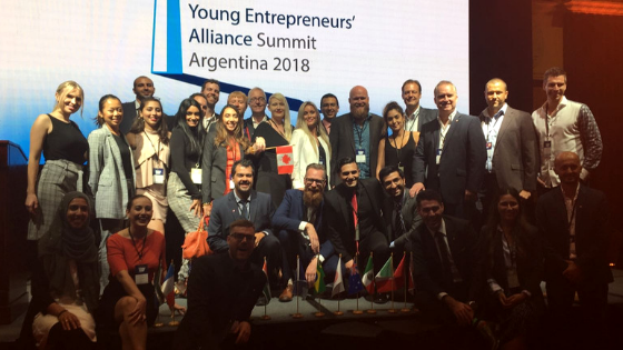 Futurpreneur and the Canadian delegation in Buenos Aires for the 2018 G20 YEA Summit.