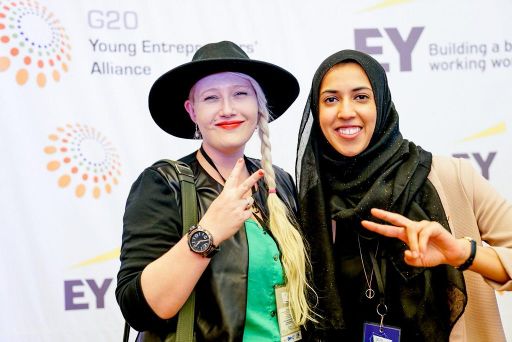 Stephanie Limage (left) was a Canadian delegate at the 2018 G20 YEA in Buenos Aires.