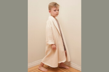 French terry kids robe