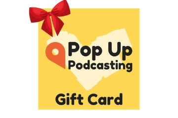Podcasting gift card