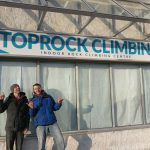 Entrepreneurs Kevin and Trevor outside their business TopRock Climbing in Brampton Ontario