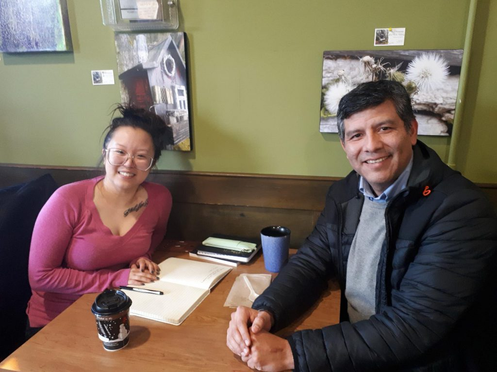Futurpreneur mentor Juan with Tiffany Chu of Yumcha Natural Foods
