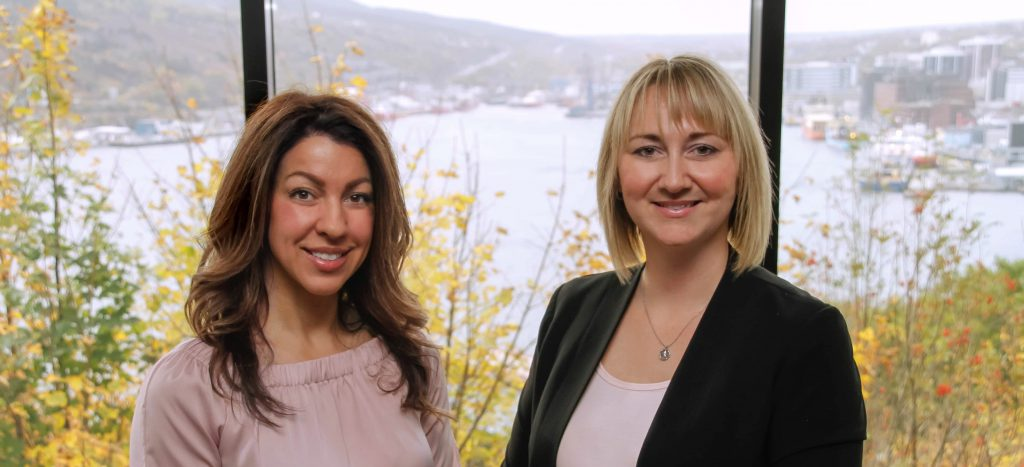Granville Biomedical co-founders, Christine Goudie (L) and Crystal Northcott (R)